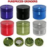 4 part high quality aluminium grinder 40mm by Deal box