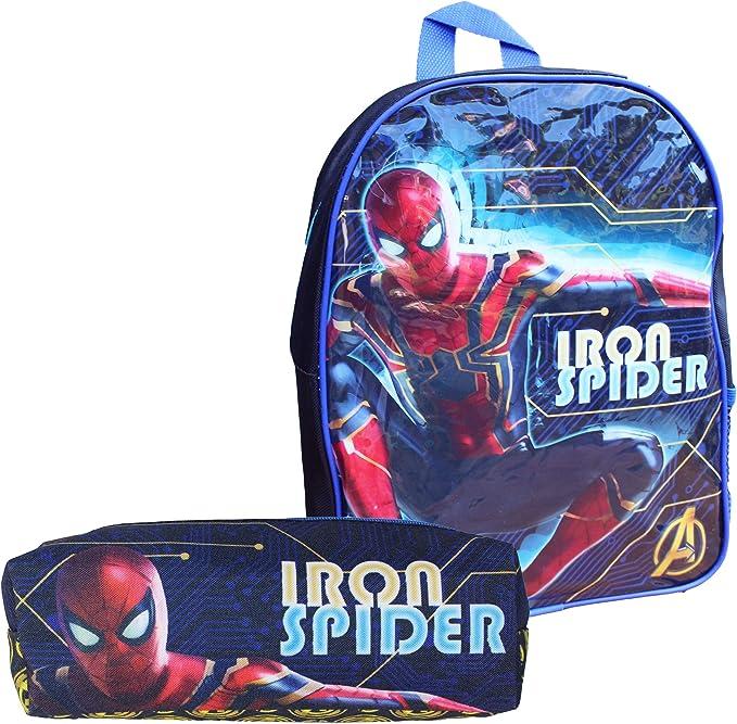 TeddyTs Marvel Spiderman School Iron Spider - Mochila y Estuche para lápices: Amazon.es: Hogar