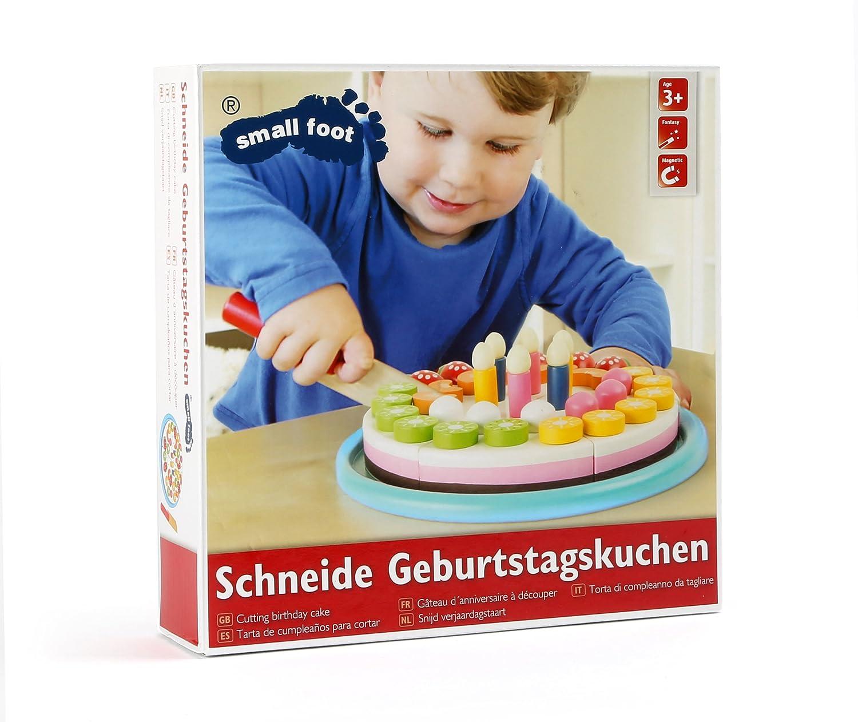 """Schneide """"Geburtstagskuchen"""" aus Holz, leuchtend bunt gestaltet ..."""