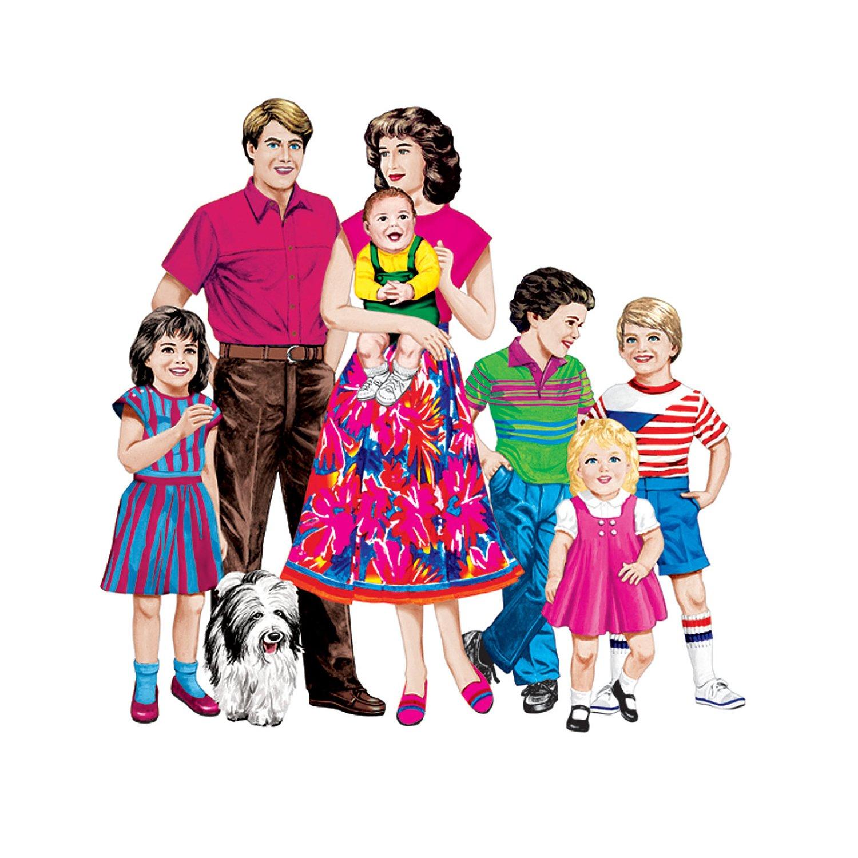 Little Folk Visuals LFV22207 Caucasian Family Flannel Boards