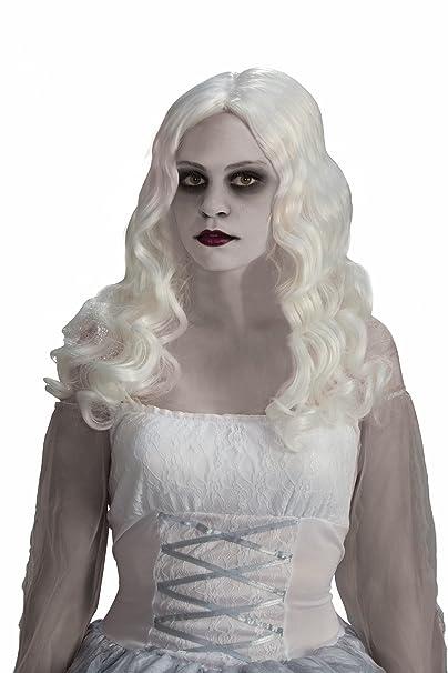 Amazon.com  Forum Novelties Women s Spirited Ghost Costume Wig ... 547440e82e