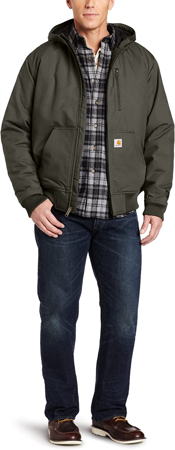 Carhartt Mens Big /& Tall Quick Duck Woodward Rain Defender Active Jacket