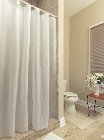 AZK Shower Curtain Liner Frost Privacy With Bottom Magnets With Reinforced  Grommets, 72u0026quot; ...