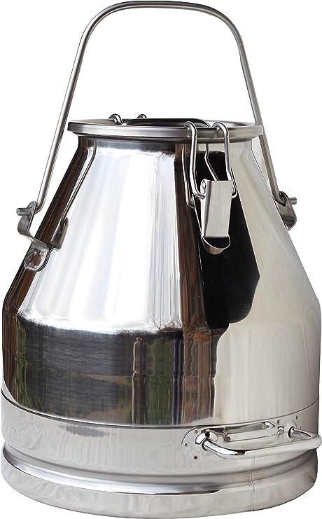 Amazon.com: Lata de leche de acero inoxidable (WITH SPIGOT ...