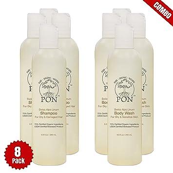 Amazon com: PON - Pure Organic Natural - Aloe Vera Based Shampoo and