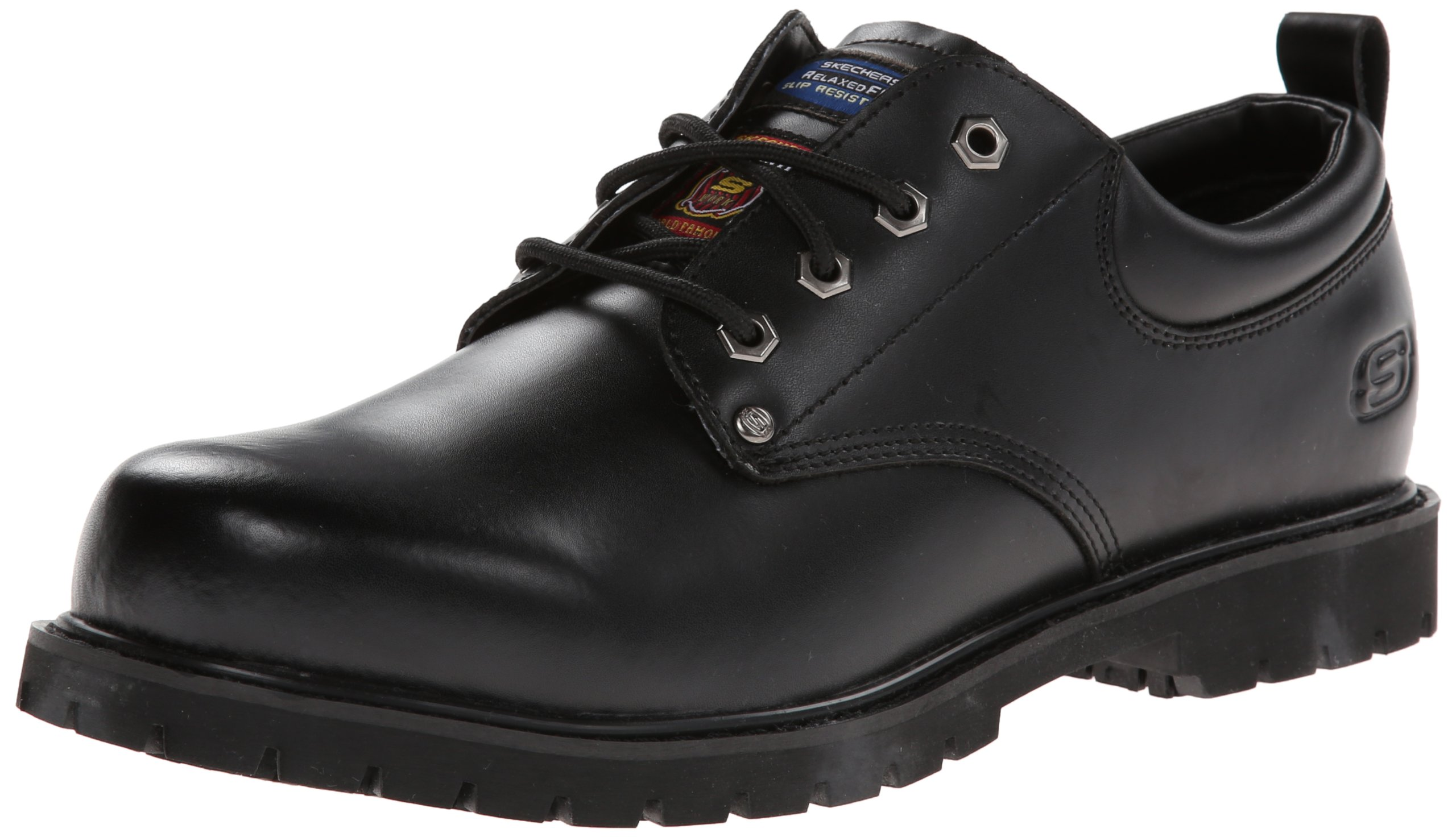 Skechers for Work Men's Cottonwood Fribble Slip Resistant Work Shoe,Black,12 M US