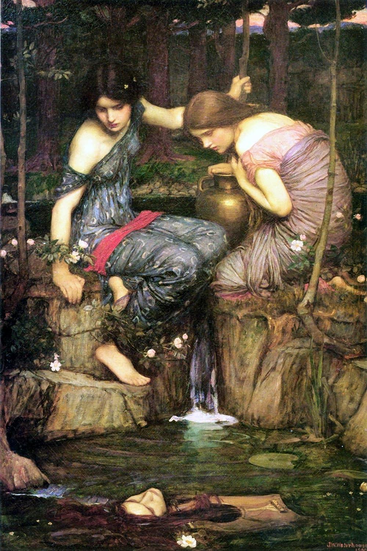 Nymphs Finding the Head of Orpheus – キャンバスまたは印刷壁アート Canvas - 24 x 30 ARTCANVASMART11130 Canvas - 24 x 30  B06XNTNMHQ