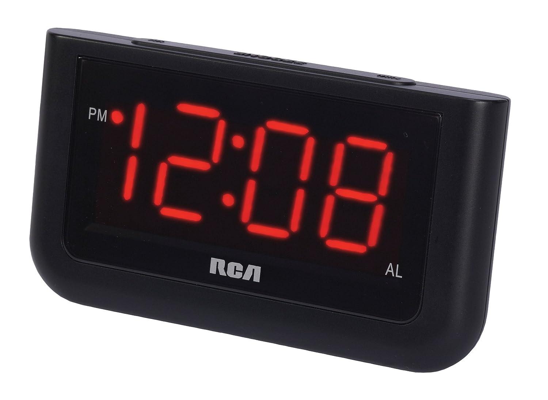 rca digital alarm clock with large 1 4 display ebay. Black Bedroom Furniture Sets. Home Design Ideas