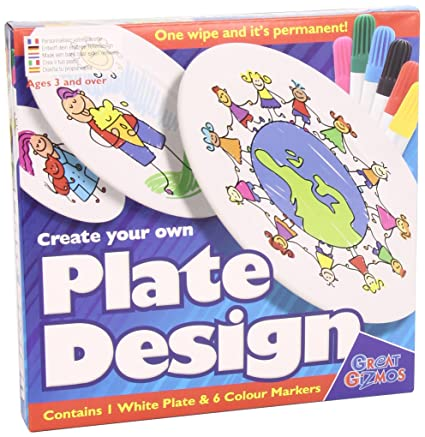 amazon com great gizmos create your own plate design with pens