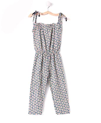 20cdf5dc136 Mandy Sunflower Tie Knot Jumpsuit with Hair Band for Girls  Amazon ...