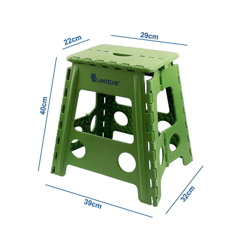 Taburete verde de plástico impermeable para el hogar, jardín y camping de Lantelme: Amazon.es: Jardín