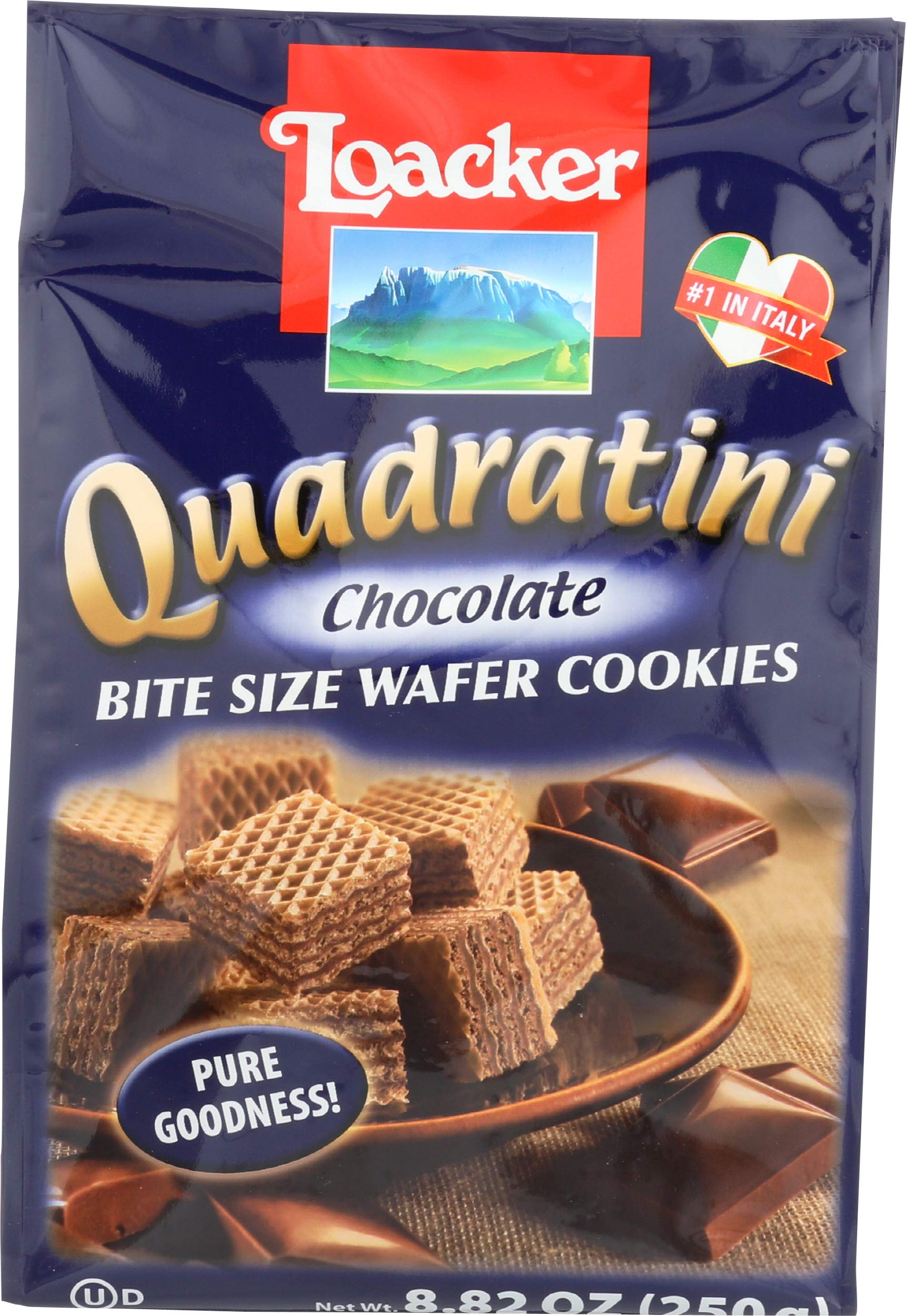 Loacker Wafer Quadratini Chocolate Cream, 8.82 oz (14301)