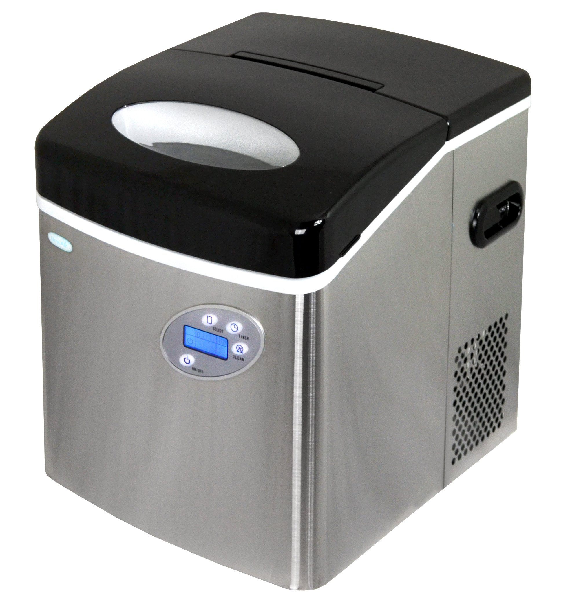 Newair Ai-215Ss Stainless Steel Portable Ice Maker With 50 Lbs. Daily Capacity 12