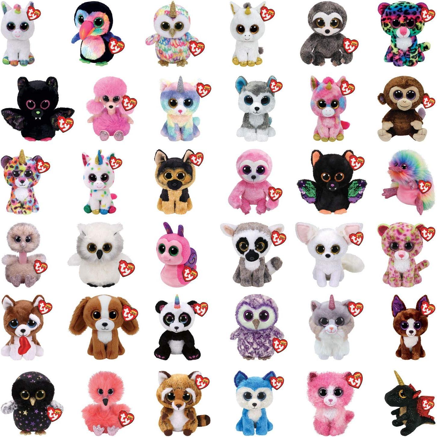 Random 5 Pack No Duplicates Plush Soft Toy TY Beanie Boo Boos
