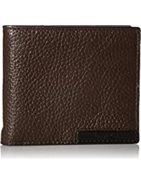 Calvin Klein Men's Pebble Leather Billfold with Money Clip and Key Fob