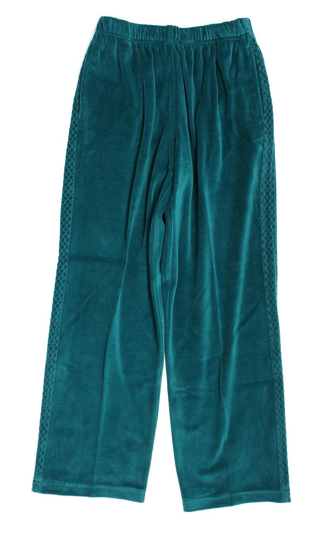 Alfred Dunner Lake Ontario Velour Elastic Waist Pants 42701