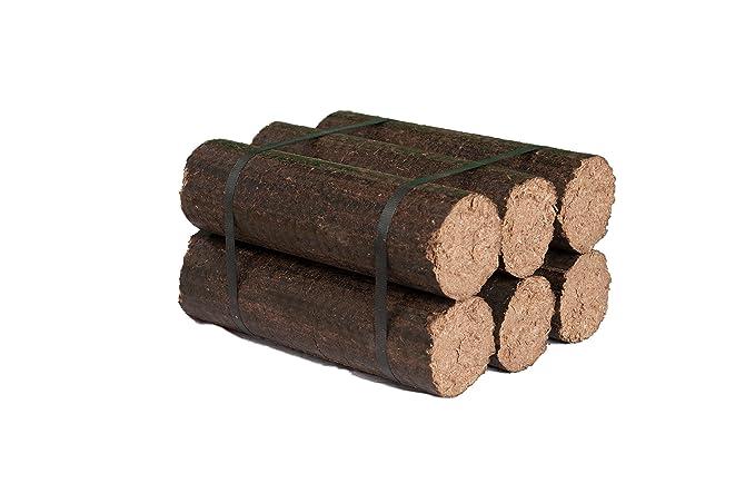 Briquetas de Madera 100% Dura - 20 kg: Amazon.es: Bricolaje ...