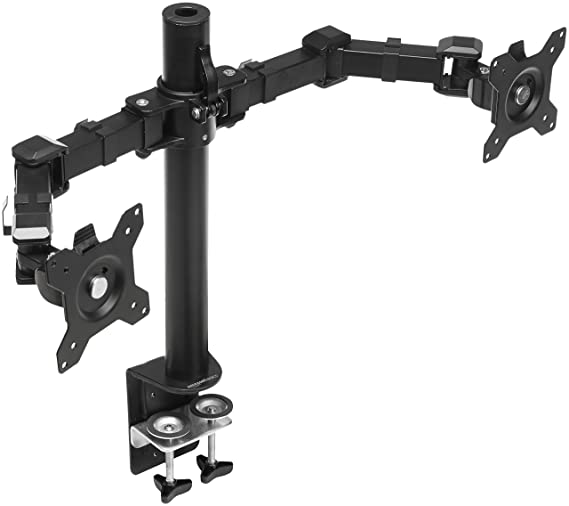 AmazonBasics Dual Monitor Stand - Height-Adjustable Arm Mount, Steel - Buy AmazonBasics Dual Monitor Stand - Height-Adjustable Arm Mount, Steel Online at Low Price in India - Amazon.in