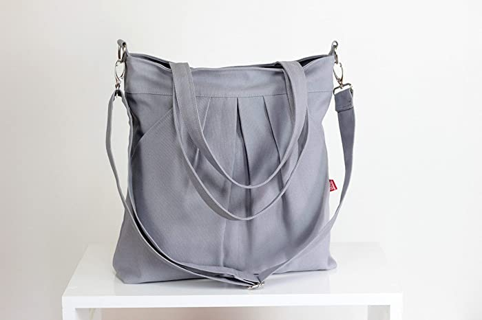 5604f606cd Light Gray Bag Double Straps Washable Choose Your Color Handbags Canvas Bag  Diaper bag Hobo bag Handbags Tote bag Purse Everyday bag Gift Different  Colors ...
