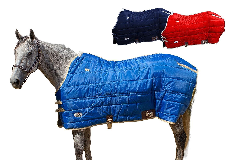 ダービー冬馬安定ブランケット420dナイロンWestスタイル300 g & 210t裏地 ブルー 62\