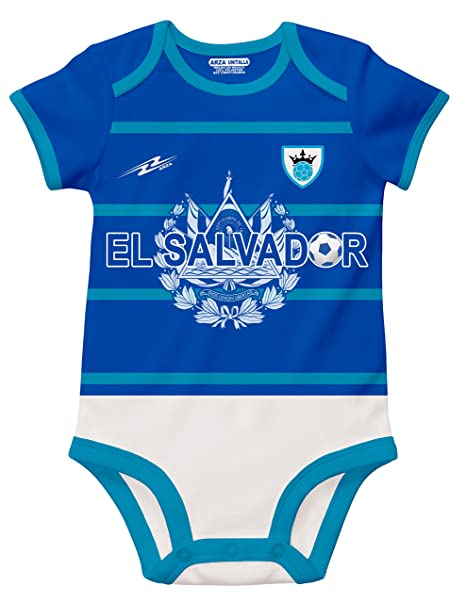 c2ad8eb0797 Image Unavailable. Image not available for. Color  El Salvador Soccer Baby  Outfit Onesie Mameluco