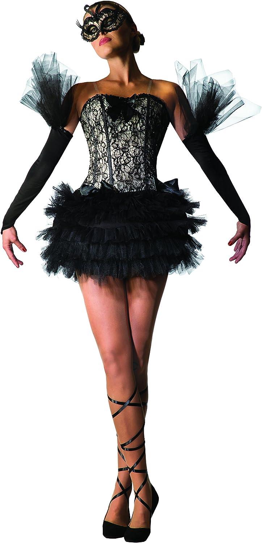 Bristol Novelty 78964 - Disfraz de bailarina de cisne negra, talla ...