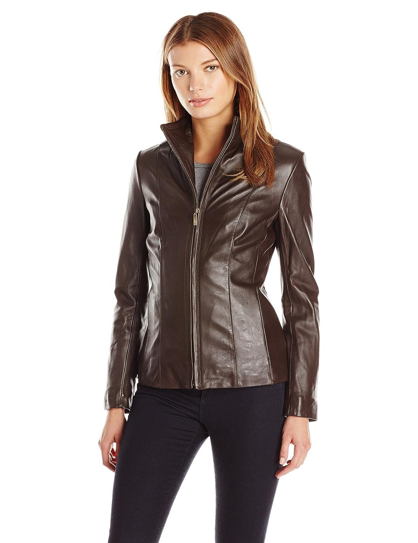 99844026d328e Cole Haan Women s Classic Leather Jacket at Amazon Women s Coats Shop