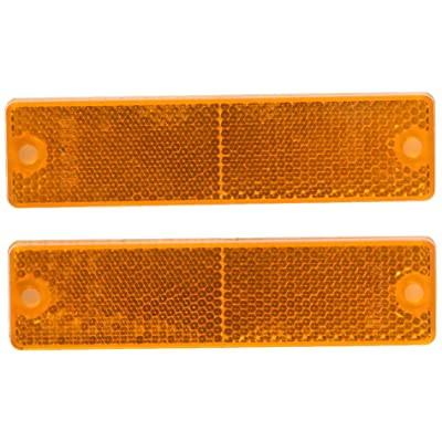 Grote 40133-5 Yellow Mini Stick-On / Screw-Mount Rectangular Reflectors: Automotive