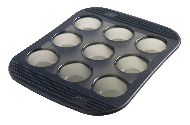 Mastrad F42014 Silikonbackform f/ür 9 Muffins