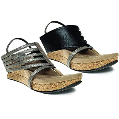 d45f2b8bc46 Modzori Elara Women s Mid Wedge Reversible Twister Sandal ...