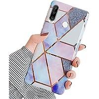 Herbests Etui kompatybilne z Huawei P30 Lite, etui na telefon komórkowy, miękki silikon TPU, wzór marmurkowy, błyszczące…