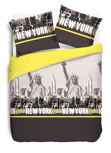 Vision Parure De Couette New York 100 Coton 1 Housse De Couette