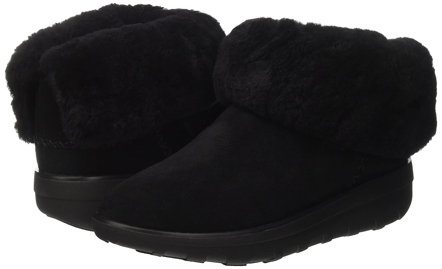 FitFlop Women's Mukluk Shorty 2 Mid Calf Boot B06VWDPK5P 6.5 B(M) US|All Black
