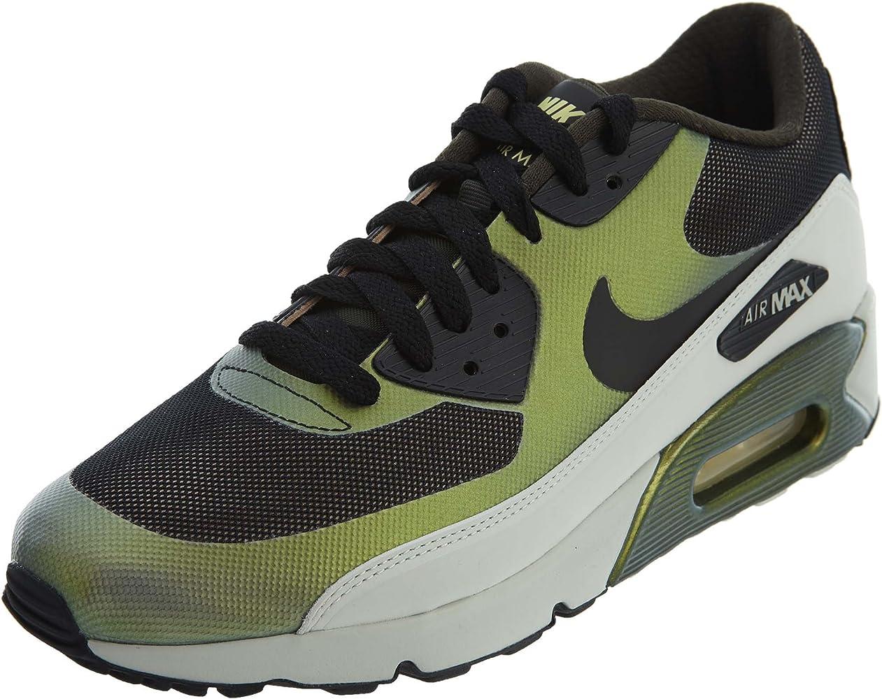 Nike Mens Air Max 90 Ultra 2.0 SE Running Shoes Pale Citron/Black/Bio Beige 876005-700 Size
