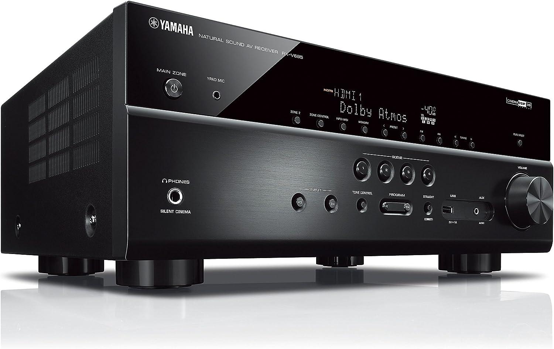 2 MusicCast 20 Speakers Yamaha RX-V685BL 7.2-Channel 4K Ultra HD AV Receiver Black
