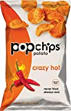 Popchips Crazy Hot Potato Chips 5 oz Bags (Pack of 12)