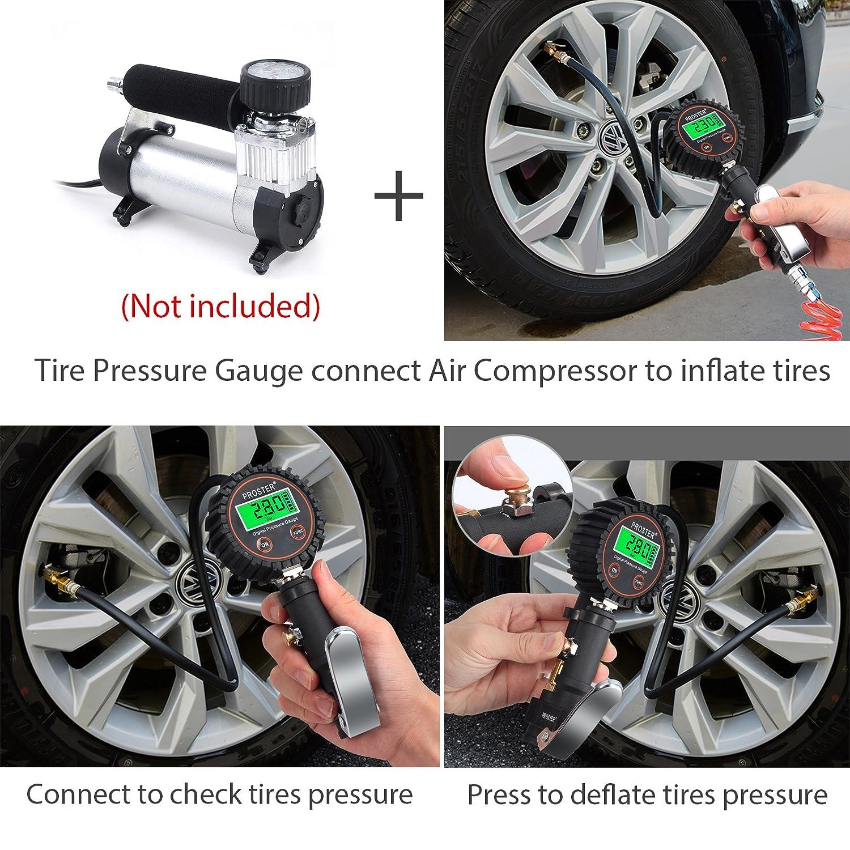 Amazon Com Proster 250 Psi Digital Tire Pressure Gauge Tire