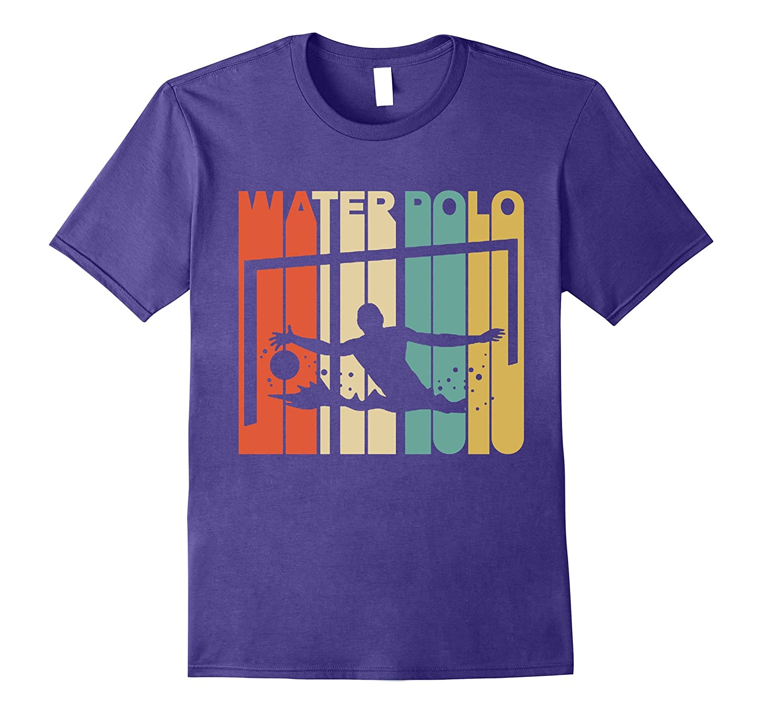 Vintage Style Water Polo Silhouette T-Shirt-TD