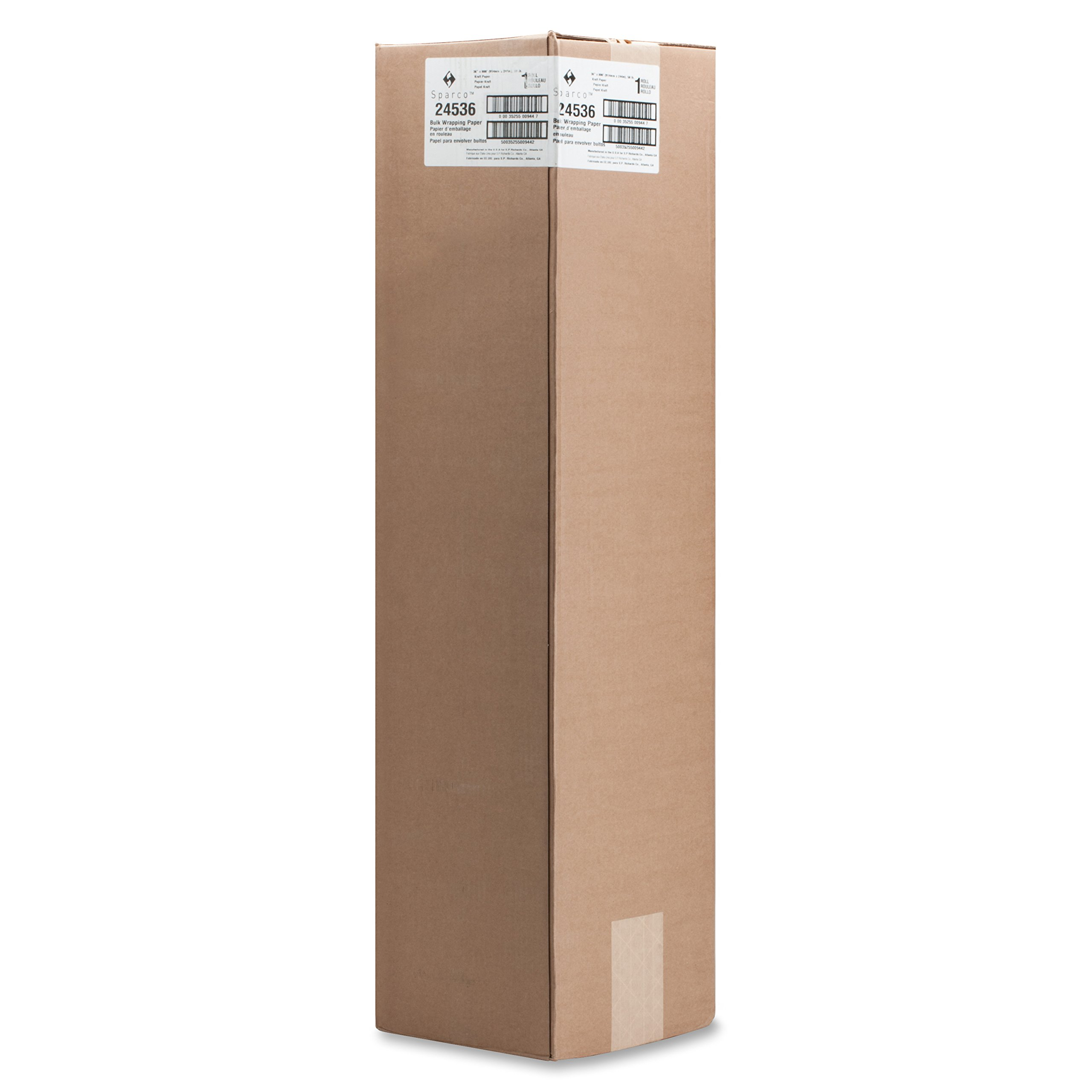 Bulk Wrapping Paper, 50 lb., 36-Inch x 800-Feet, 8-1/2-Inch, Kraft