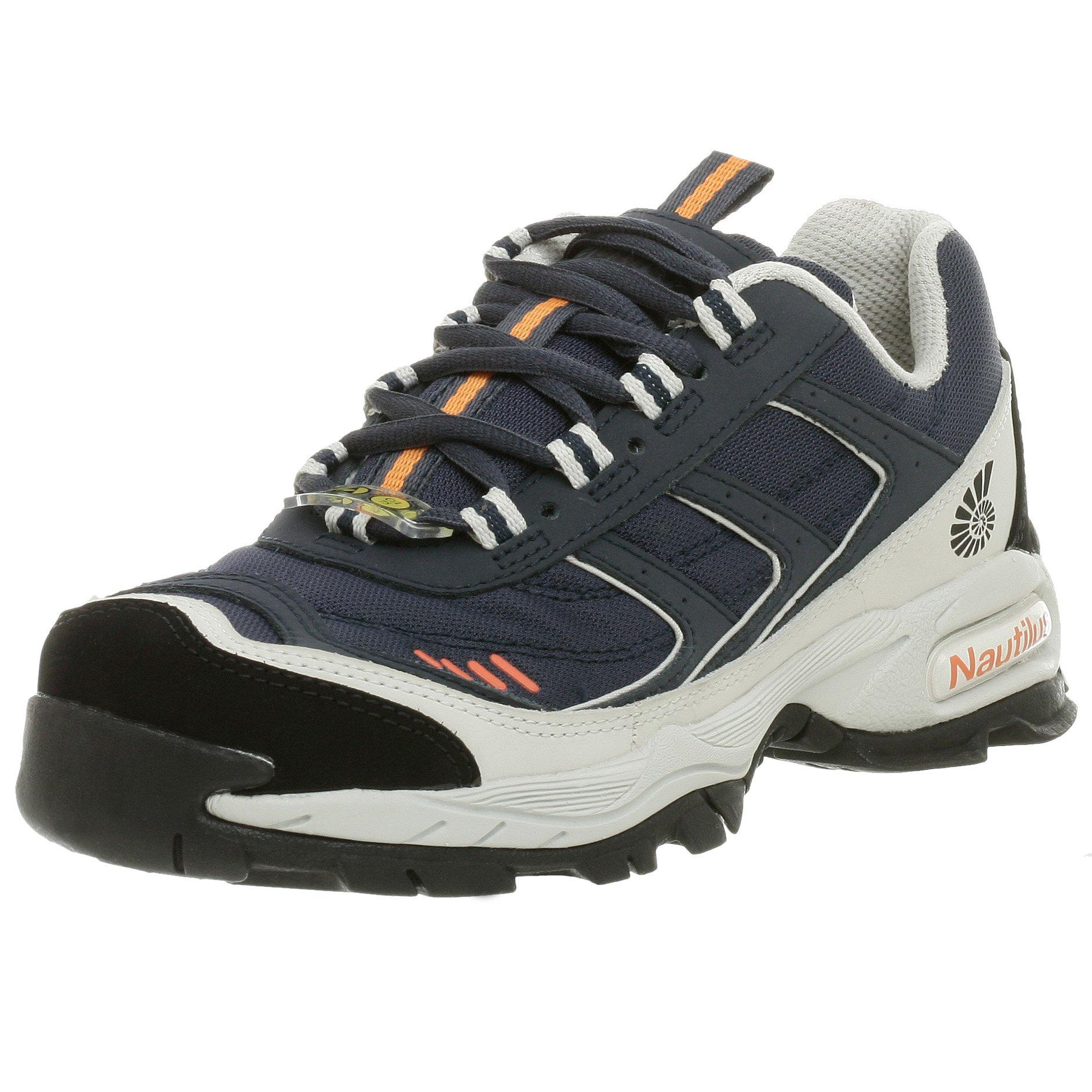 Nautilus Womens Black Leather//PU Comp Toe Waterproof EH Work Shoes 6 W