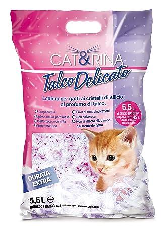 Arena de Silice para Gatos Perfumada Talco Delicado - 5,5 l: Amazon.es: Productos para mascotas