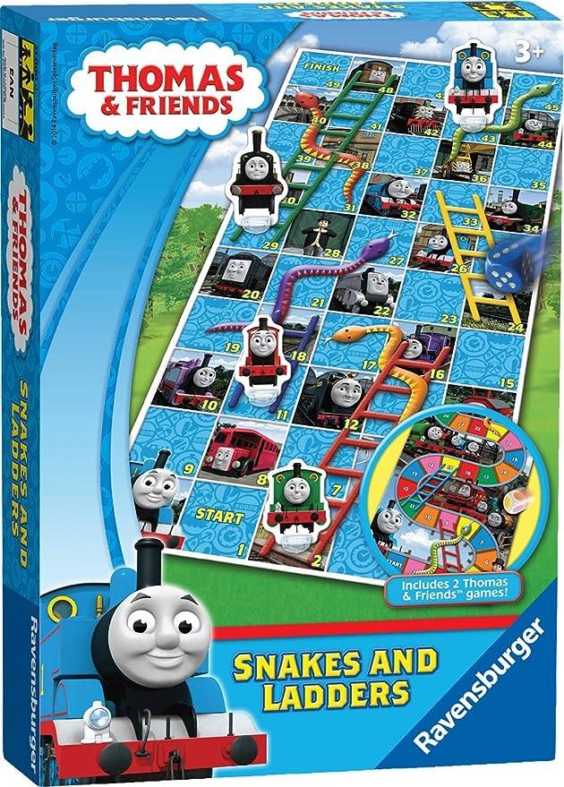 Ravensburger Thomas & Friends - Juego de Mesa de Serpientes y escaleras: Amazon.es: Juguetes y juegos
