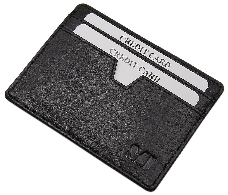 Vacchetta porta carte di credito MJ-Design-Germany in 3 diversi colori (Marrone)