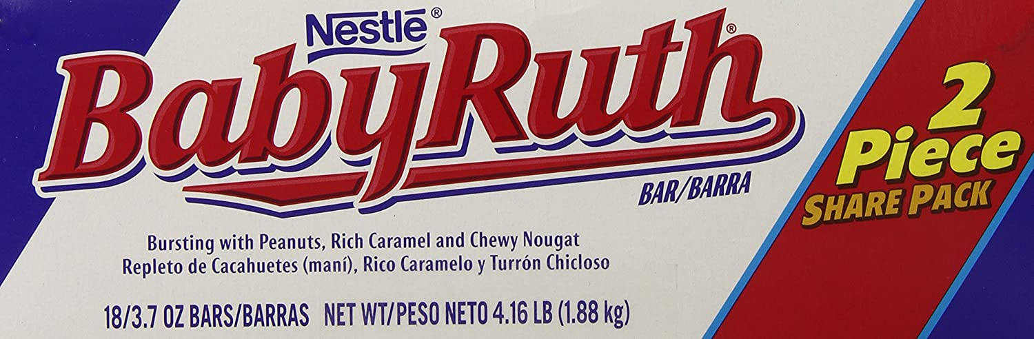 Amazon.com : Nestle Baby Ruth Share Pack, 3.7-Ounce Candy Bars (Pack of 18) : Chocolate Bars : Grocery & Gourmet Food