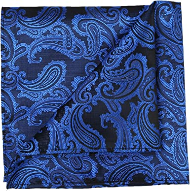 FlowerMoon Mens Tie Set Pure Black Classic Necktie Gift Box Pocket Square