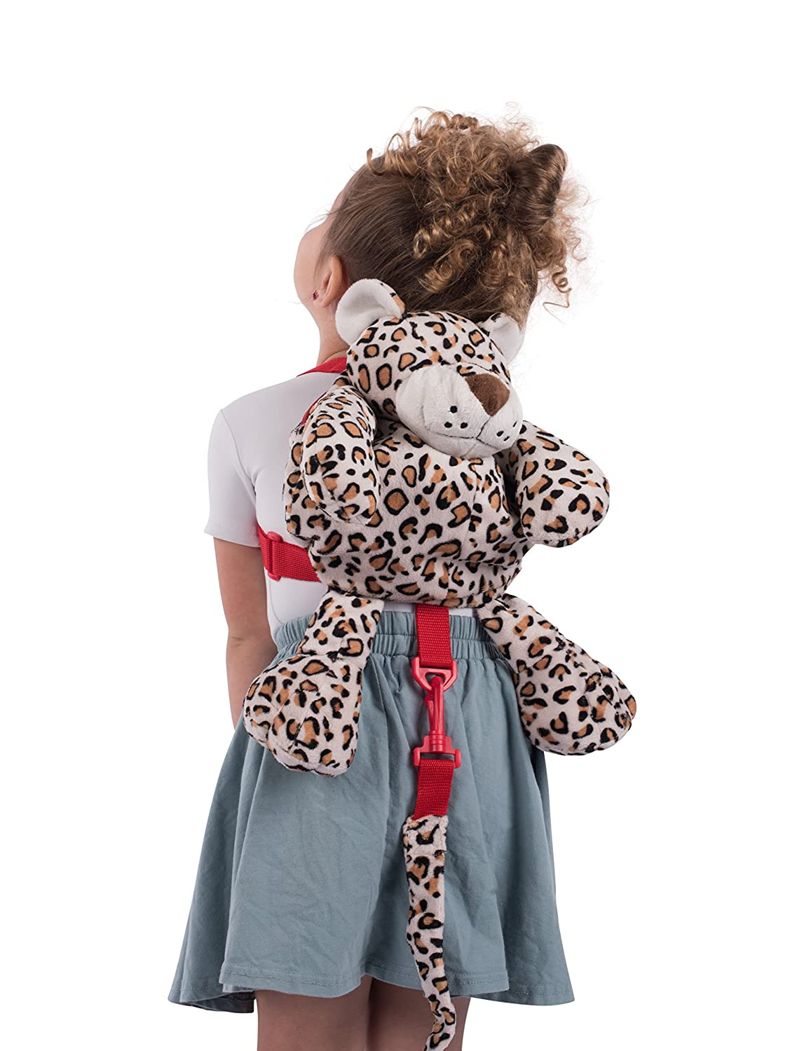 Mochila Animal Planet 2 en 1 con arné s, leopardo HIS Juveniles 60108