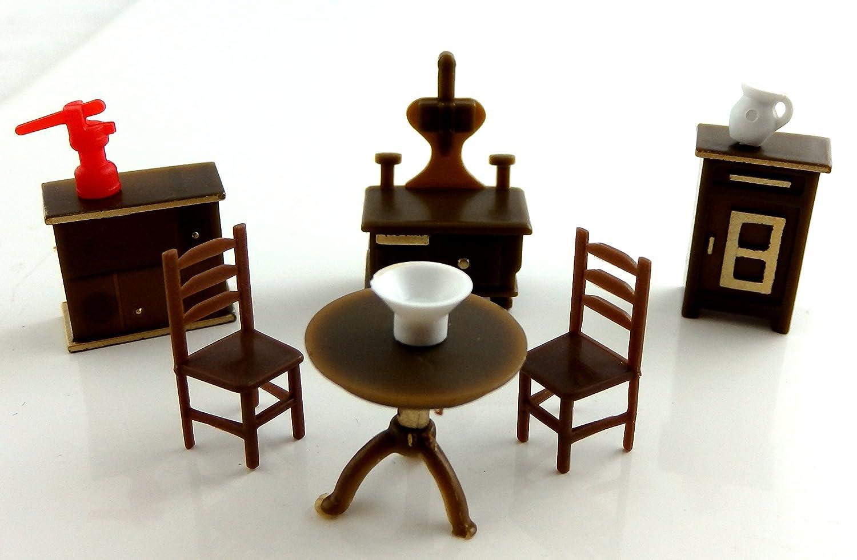 amazon com dollhouse miniature 1 48 scale plastic kitchen amazon com dollhouse miniature 1 48 scale plastic kitchen furniture set toys games