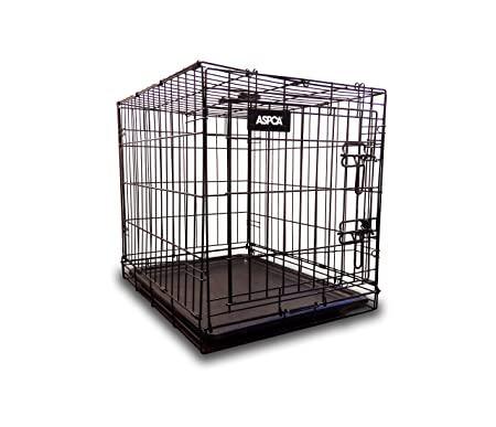 ASPCA Metal Pet Crate Kennel Removable Tray