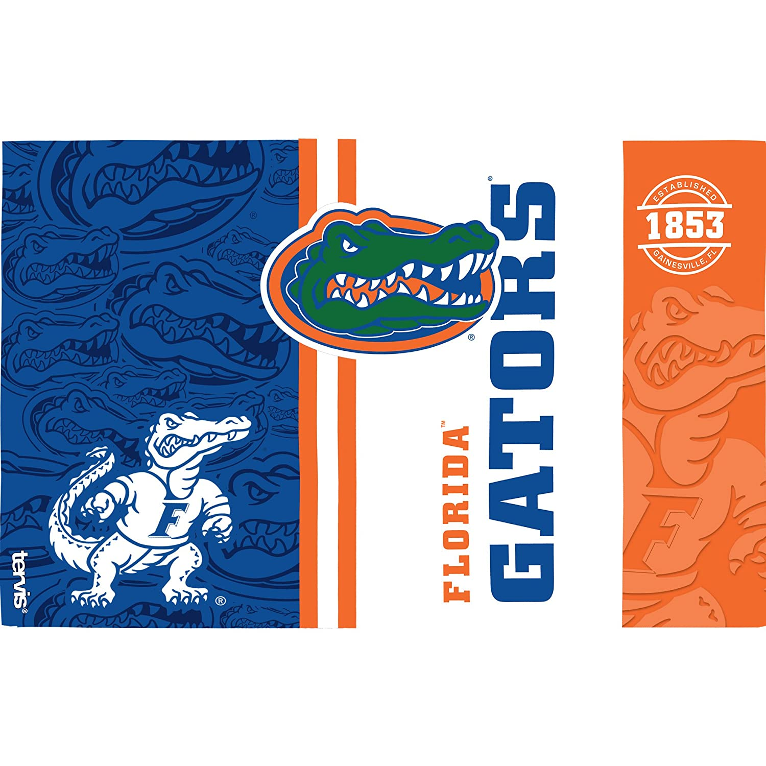 Clear Tervis 1215248 Florida Gators College Pride Tumbler with Wrap and Blue Lid 16oz