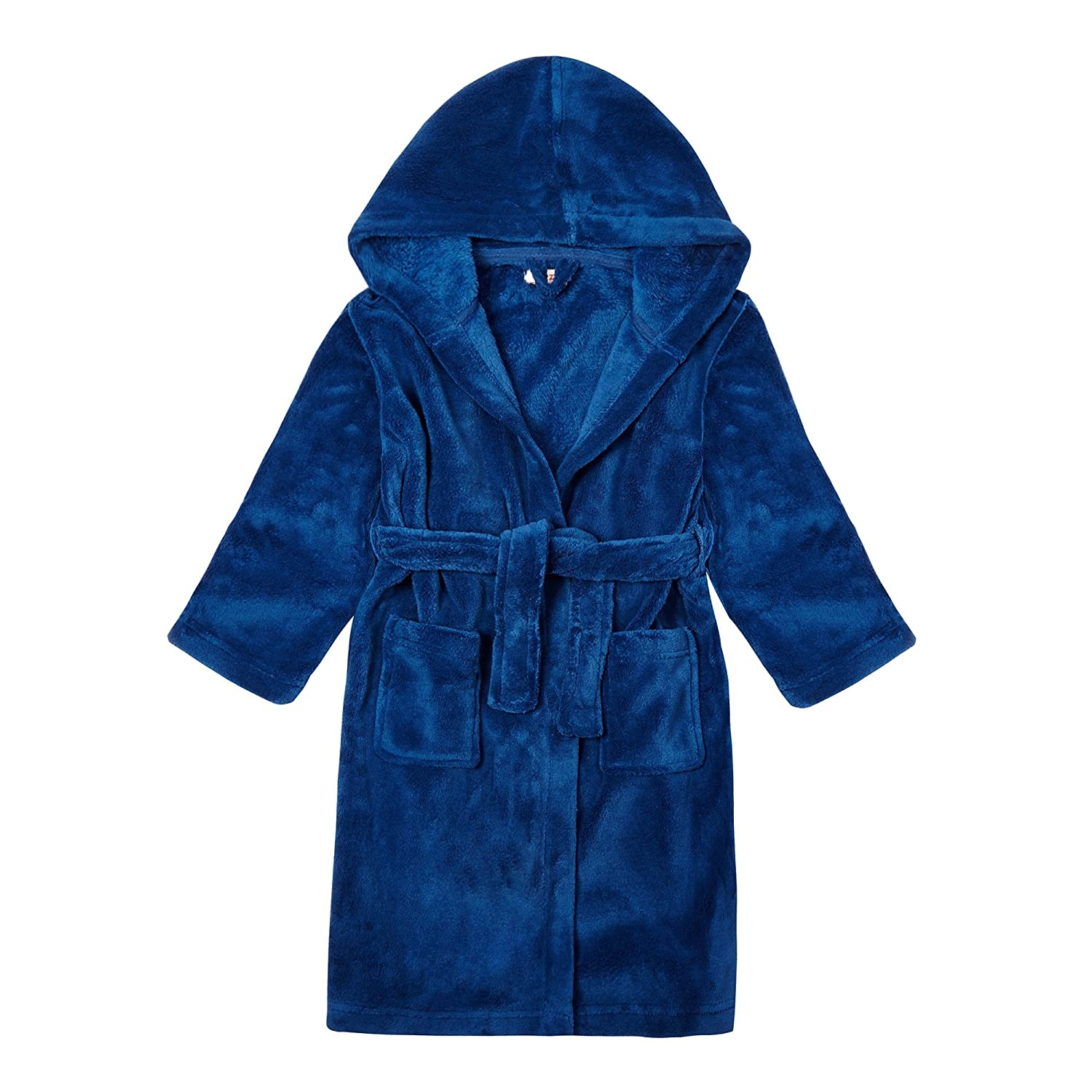 Kids Boys' Dressing Gown Age 1-14 Years, Blue bluezoo